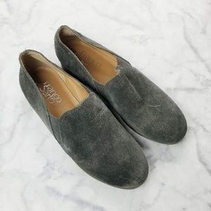 Franco Sarto Gray Suede Pardon Loafers